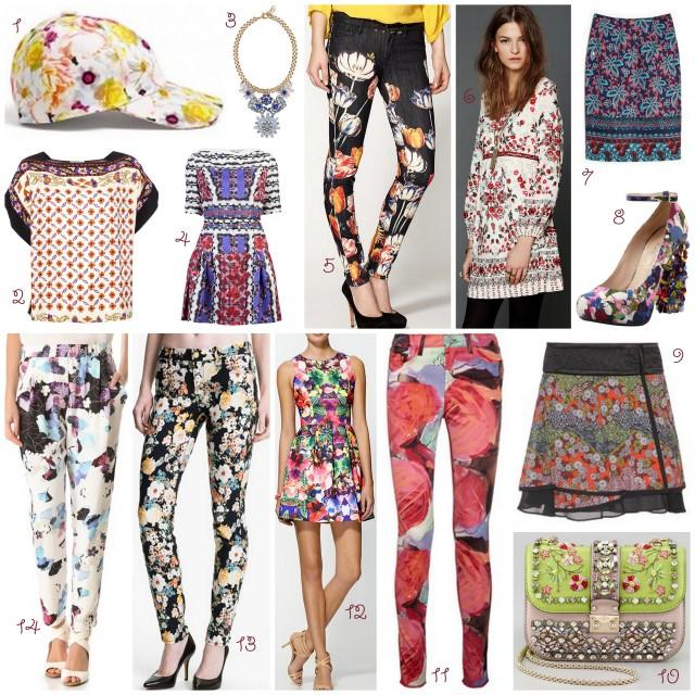 floral prints 2013