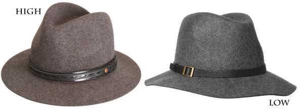 grey felt hats