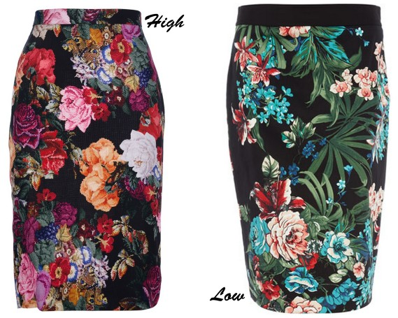 floral pencil skirts fall 12