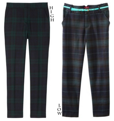 tailored tartan pants