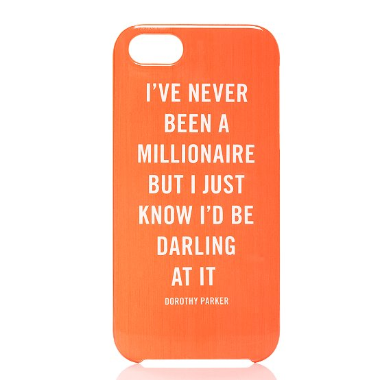 KATE Spade millionaire quote iphone 5 case