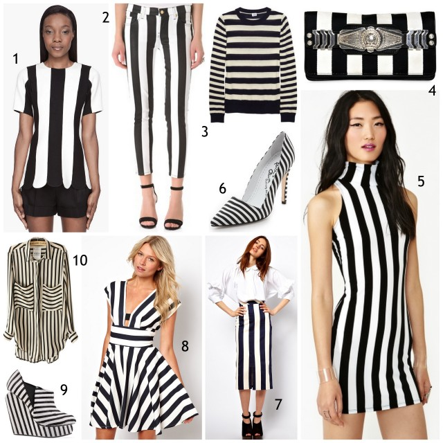 black and white stripe trend spring 2013