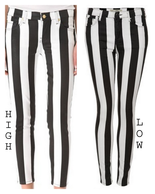 black and white stripe pants