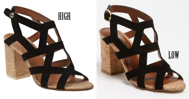 Cut out sandals spring 2013