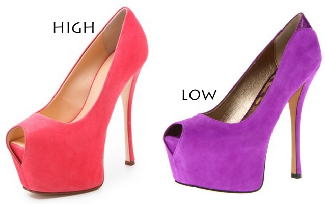 eye drop peep toe stilettos