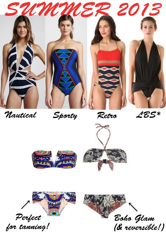 summer 2013 swim suits shop the look ALL THINGS MAJOR one piece two piece bikini bathing suit