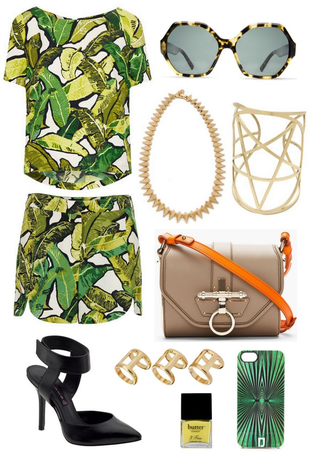 banana leaf oufit summer 2013 ALL THINGS MAJOR
