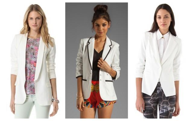 spring/summer 2013 white blazers