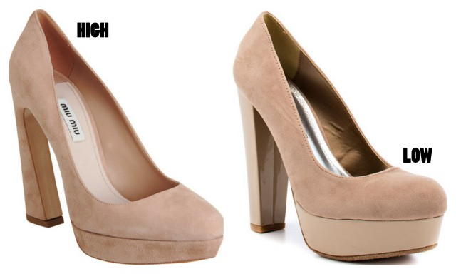 blush platform pumps
