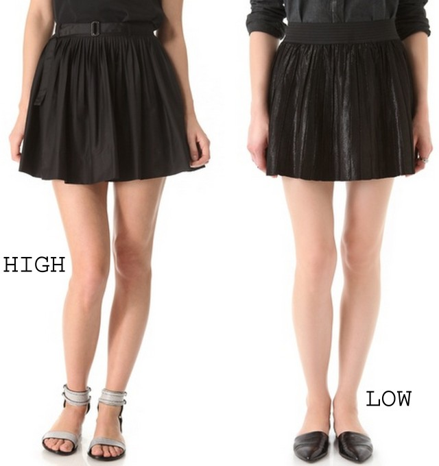 black leather pleated skirts