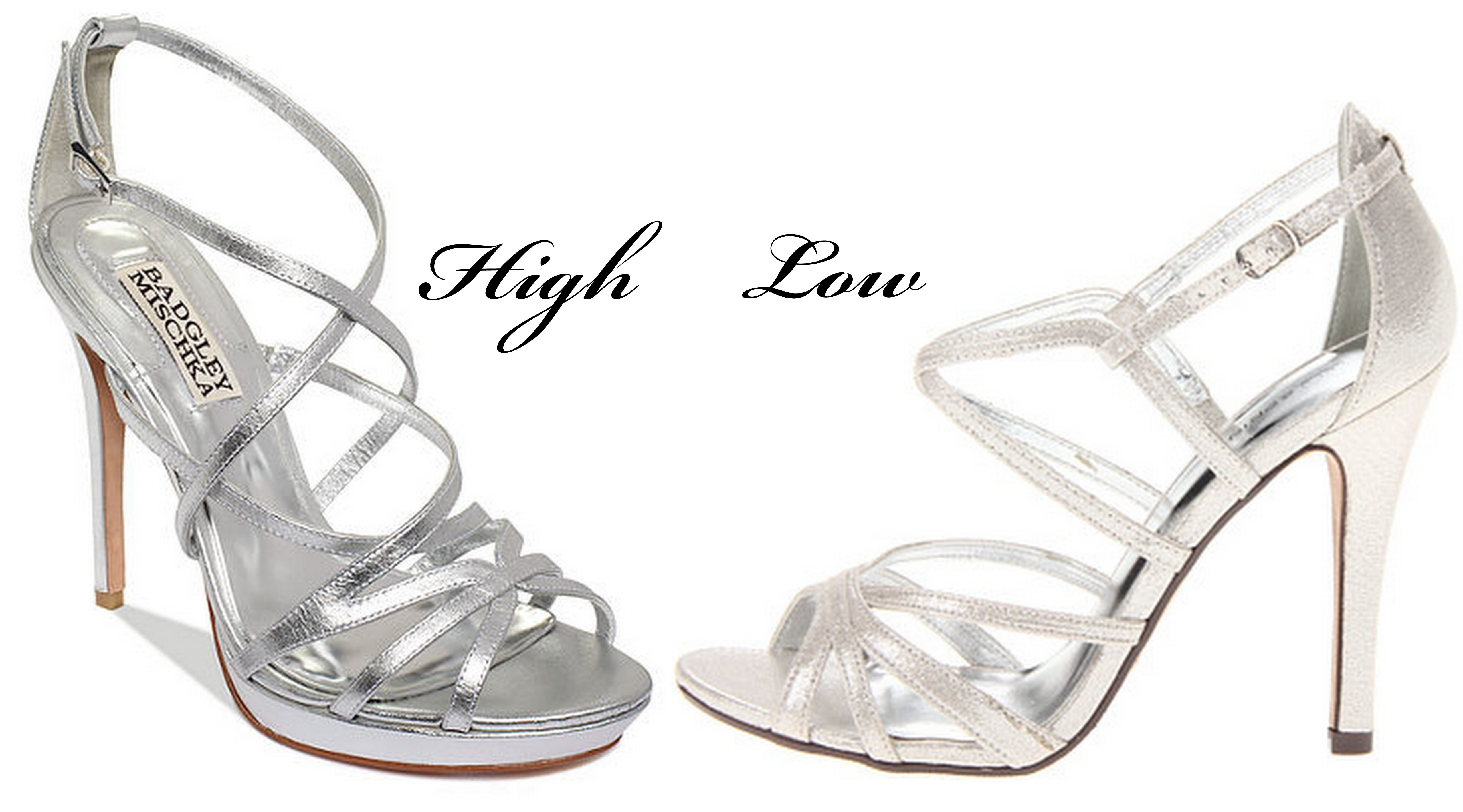 Strappy Silver Sandals Heels
