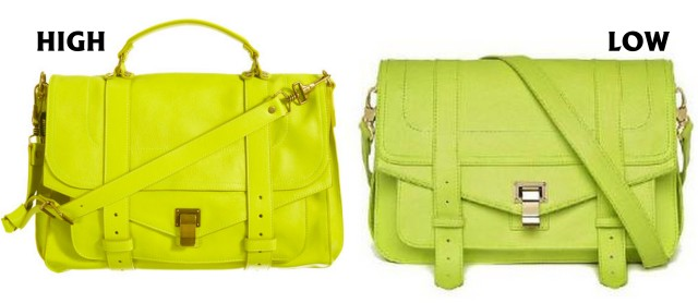 neon yellow satchels