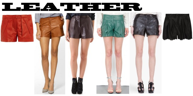 leather shorts spring/summer 2013