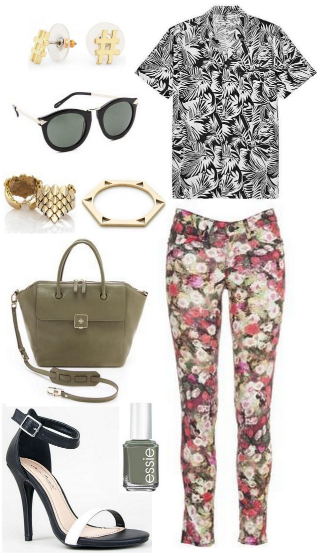 outfit post mixed prints floral pattern fall 2013 all things major
