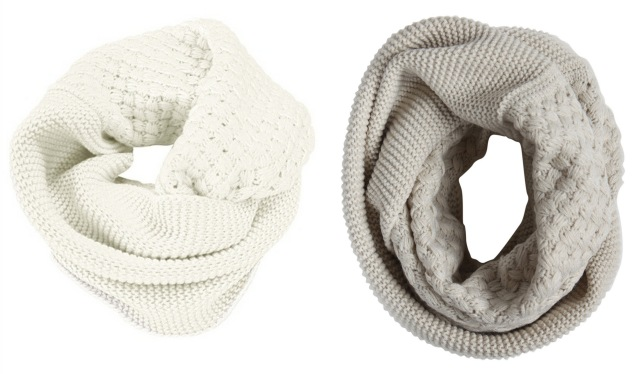 chunky knit circle scarf