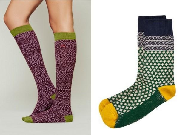 printed winter socks