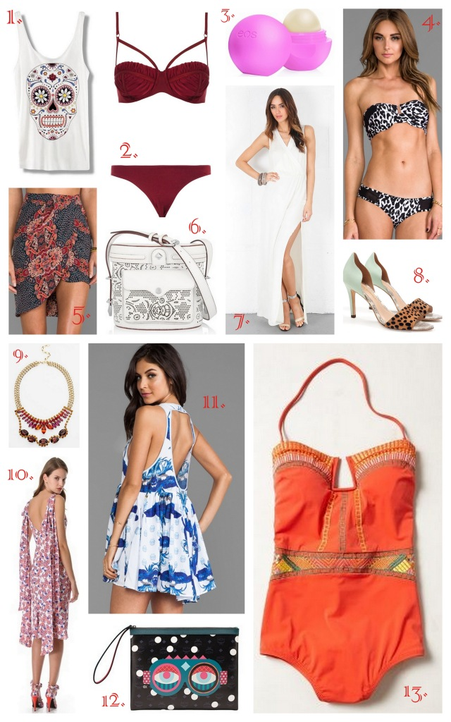 warm weather vacation beach summer packing shopping style